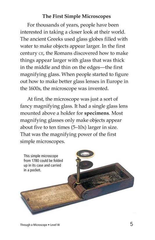 Book Preview For Through a Microscope Page 5