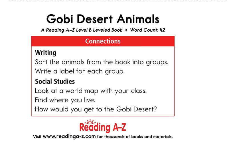 Book Preview For Gobi Desert Animals Page 11