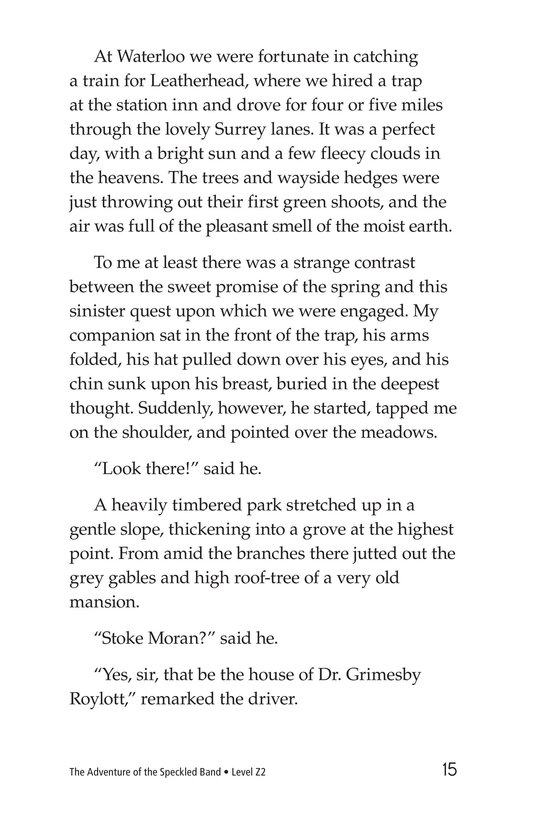 Book Preview For The Adventure of the Speckled Band (Part 2) Page 15