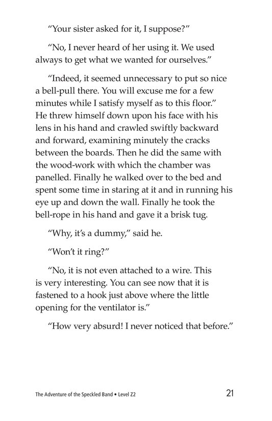 Book Preview For The Adventure of the Speckled Band (Part 2) Page 21