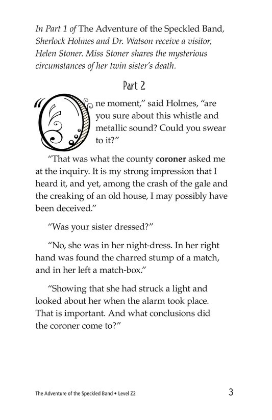 Book Preview For The Adventure of the Speckled Band (Part 2) Page 3
