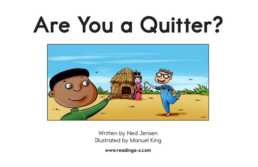 Book Preview For Are You a Quitter? Page 2