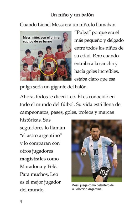 Book Preview For Lionel Messi, El astro argentino Page 4