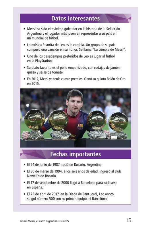 Book Preview For Lionel Messi, El astro argentino Page 15