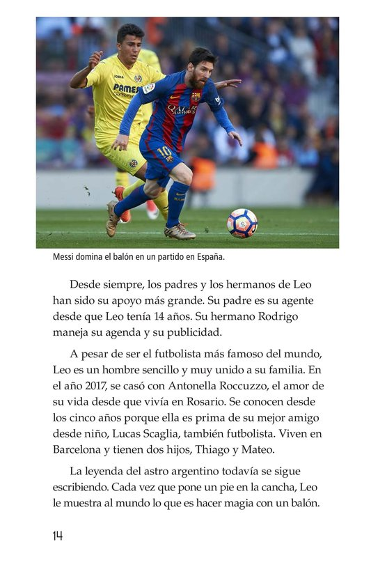 Book Preview For Lionel Messi, El astro argentino Page 14