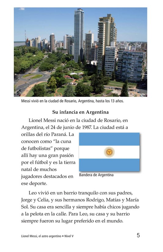 Book Preview For Lionel Messi, El astro argentino Page 5