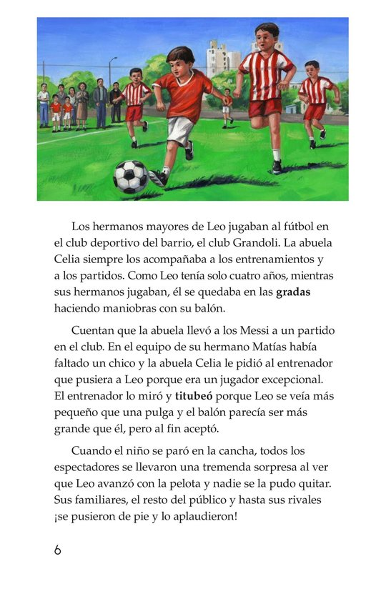 Book Preview For Lionel Messi, El astro argentino Page 6