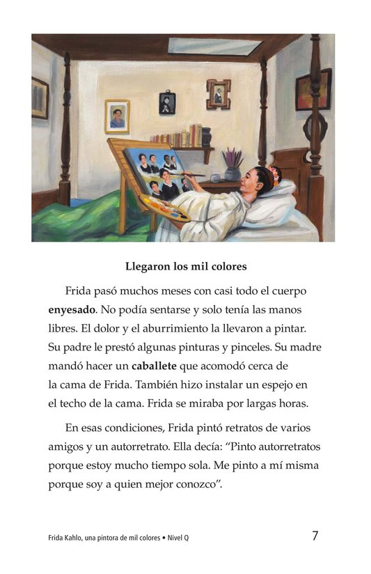 Book Preview For Frida Kahlo, una pintora de mil colores Page 7
