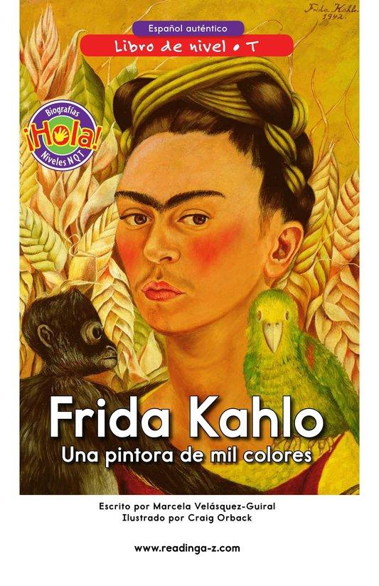 Book Preview For Frida Kahlo, una pintora de mil colores Page 0