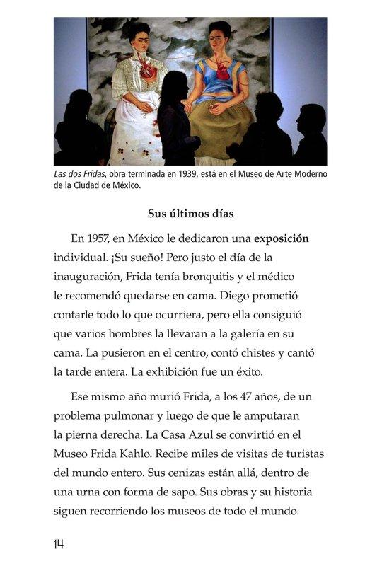 Book Preview For Frida Kahlo, una pintora de mil colores Page 14