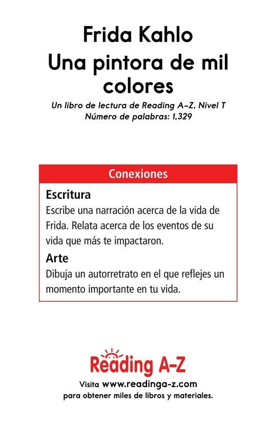 Book Preview For Frida Kahlo, una pintora de mil colores Page 17