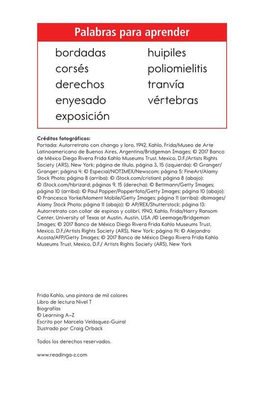 Book Preview For Frida Kahlo, una pintora de mil colores Page 2