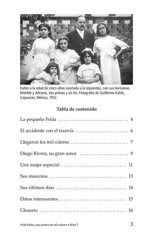 Book Preview For Frida Kahlo, una pintora de mil colores Page 3