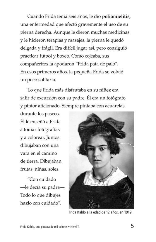 Book Preview For Frida Kahlo, una pintora de mil colores Page 5