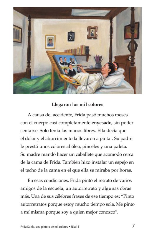 Book Preview For Frida Kahlo, una pintora de mil colores Page 7