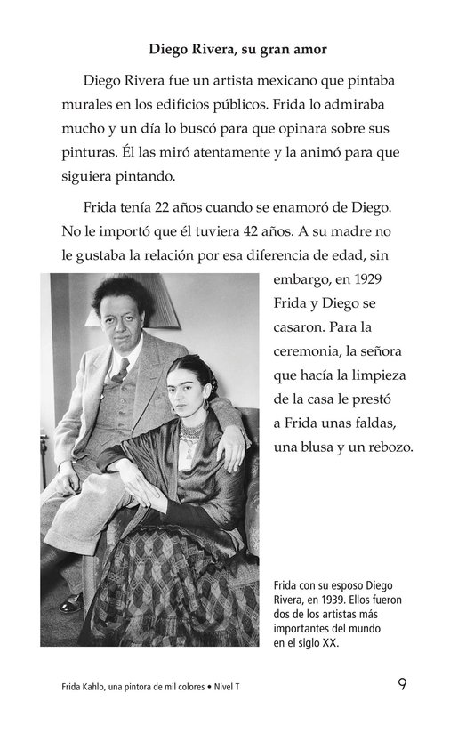 Book Preview For Frida Kahlo, una pintora de mil colores Page 9