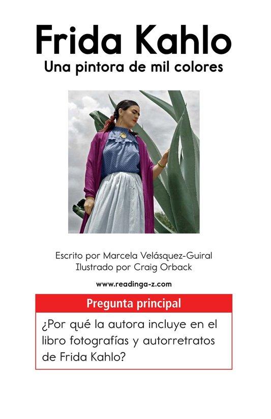 Book Preview For Frida Kahlo, una pintora de mil colores Page 1