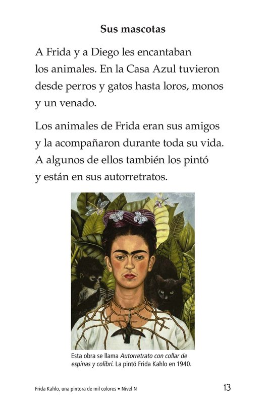 Book Preview For Frida Kahlo, una pintora de mil colores Page 13