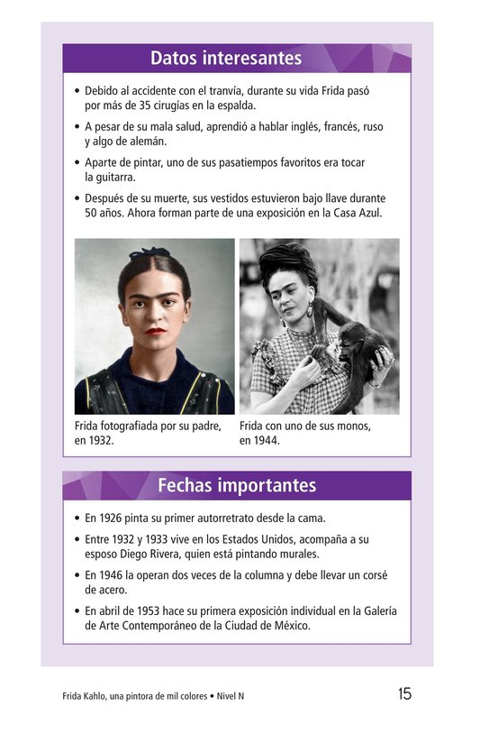 Book Preview For Frida Kahlo, una pintora de mil colores Page 15