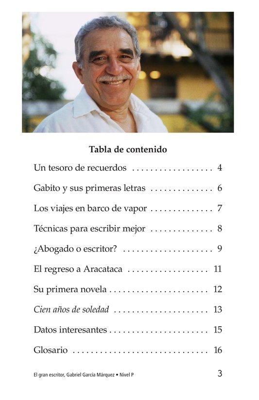 Book Preview For El gran escritor, Gabriel García Márquez Page 3