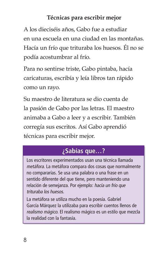 Book Preview For El gran escritor, Gabriel García Márquez Page 8