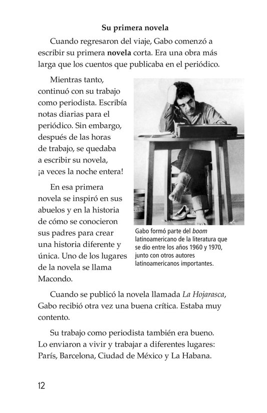 Book Preview For El gran escritor, Gabriel García Márquez Page 12