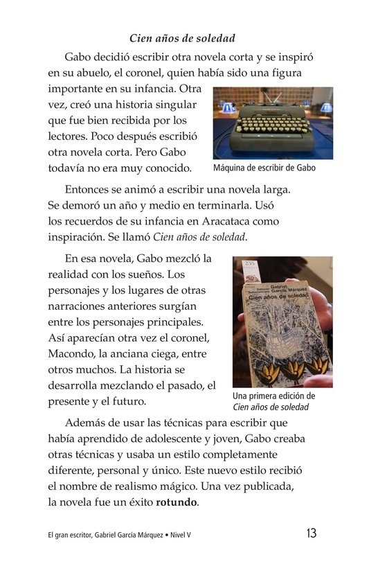 Book Preview For El gran escritor, Gabriel García Márquez Page 13