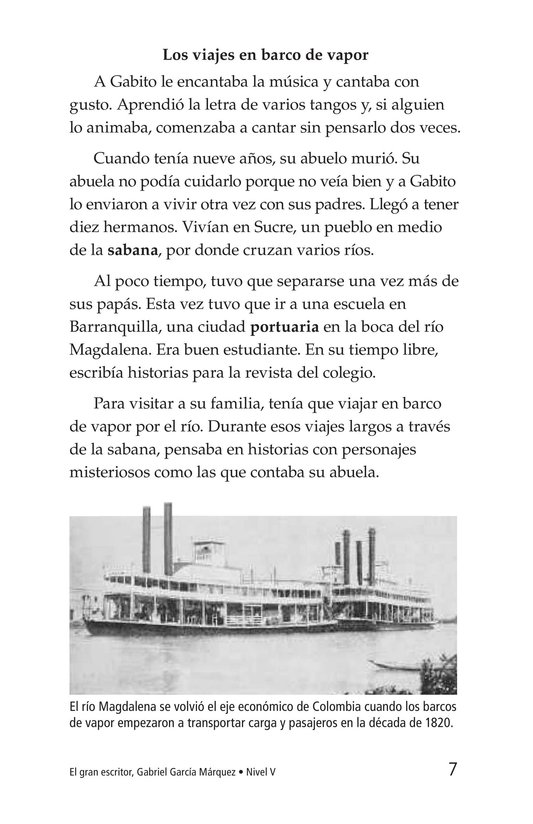 Book Preview For El gran escritor, Gabriel García Márquez Page 7