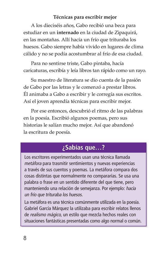 Book Preview For El gran escritor, Gabriel García Márquez Page 8