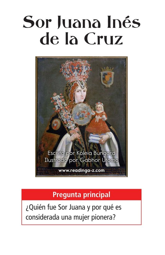 Book Preview For Sor Juana Inés de la Cruz Page 1