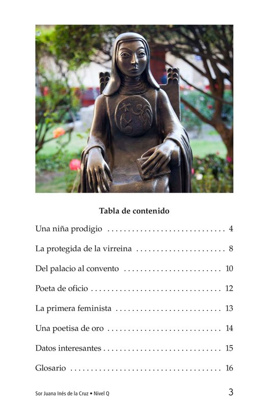 Book Preview For Sor Juana Inés de la Cruz Page 3