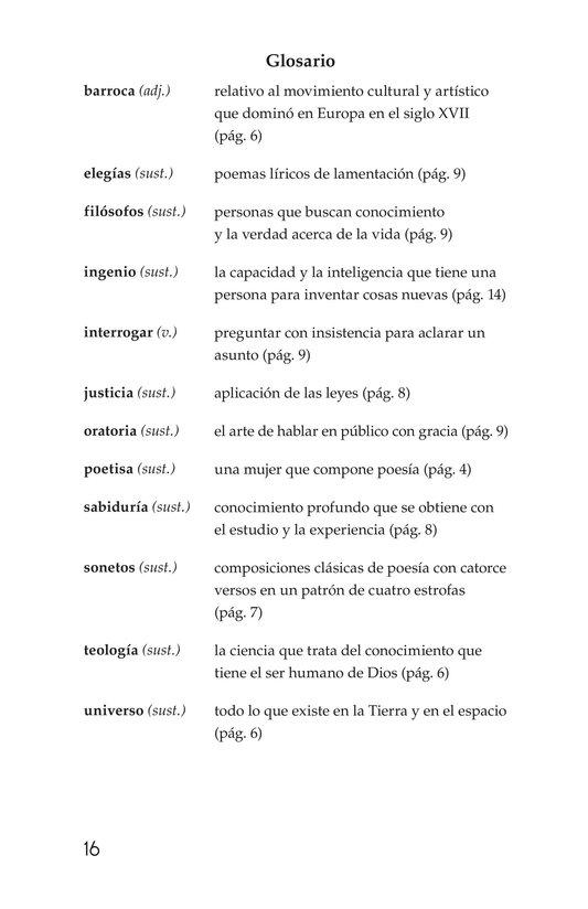 Book Preview For Sor Juana Inés de la Cruz Page 16