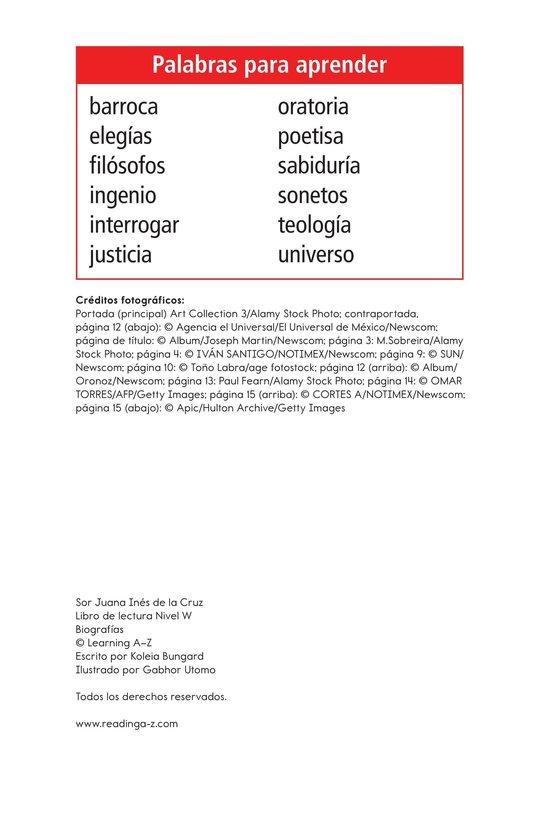 Book Preview For Sor Juana Inés de la Cruz Page 2