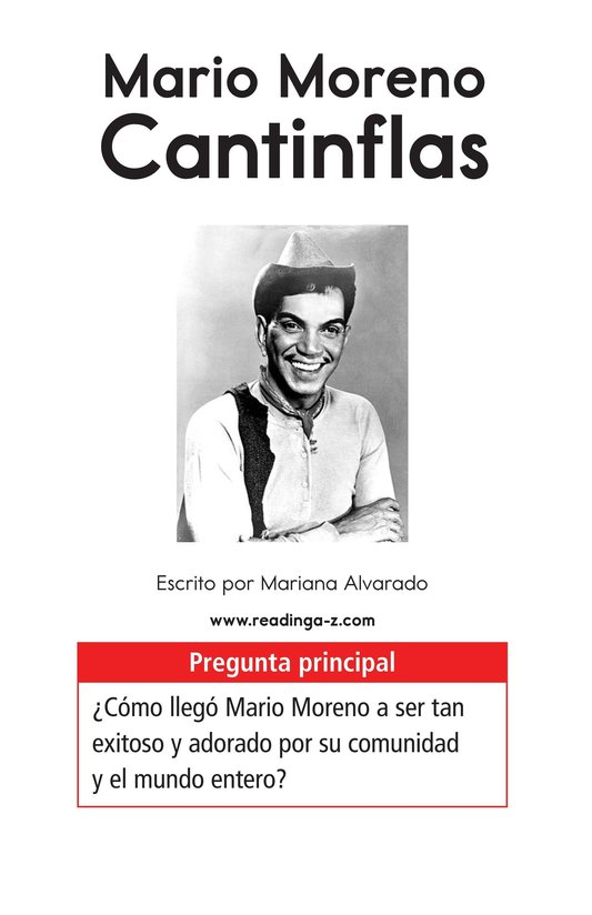 Book Preview For Mario Moreno, Cantinflas Page 1