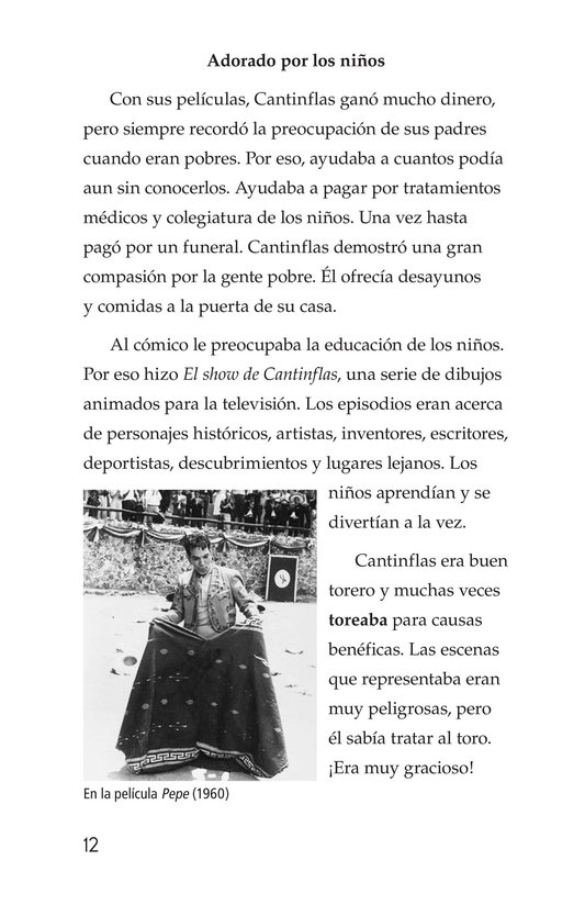 Book Preview For Mario Moreno, Cantinflas Page 12