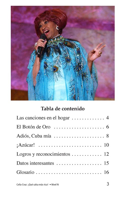 Book Preview For Celia Cruz, ¡Qué salsa más rica! Page 3