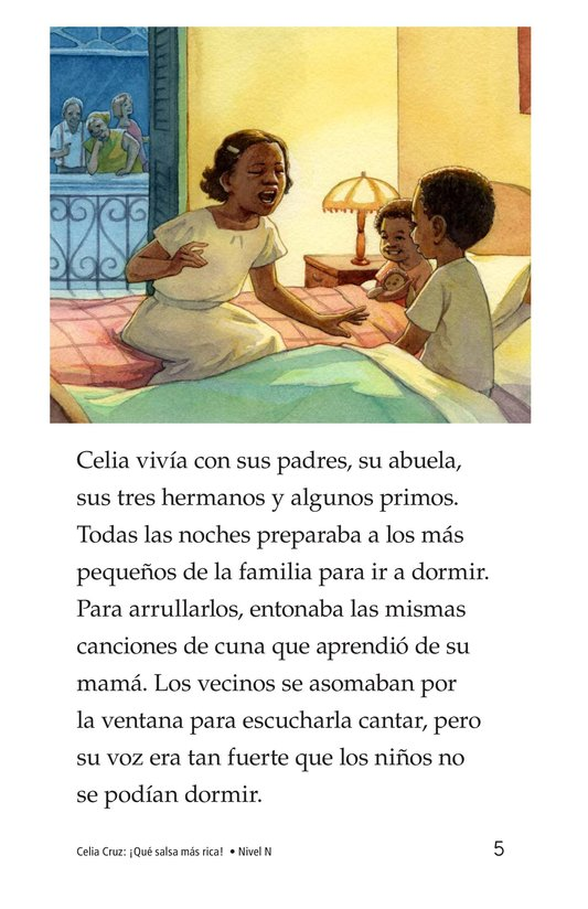 Book Preview For Celia Cruz, ¡Qué salsa más rica! Page 5