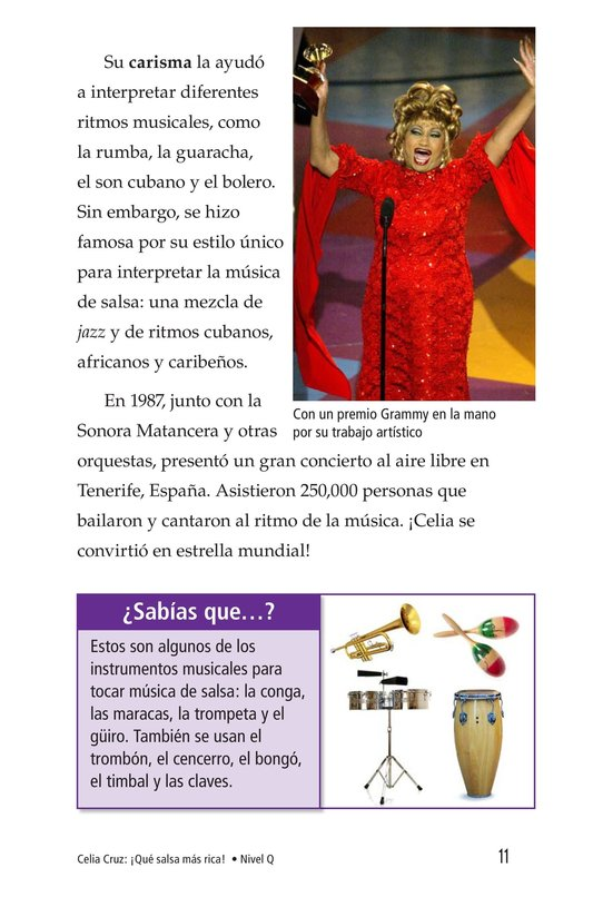 Book Preview For Celia Cruz, ¡Qué salsa más rica! Page 11