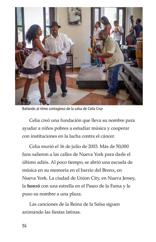 Book Preview For Celia Cruz, ¡Qué salsa más rica! Page 14