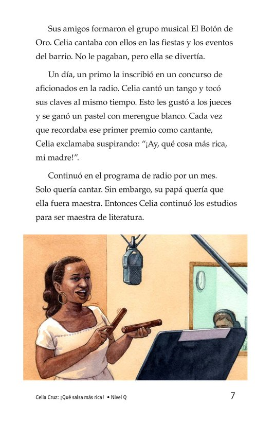 Book Preview For Celia Cruz, ¡Qué salsa más rica! Page 7