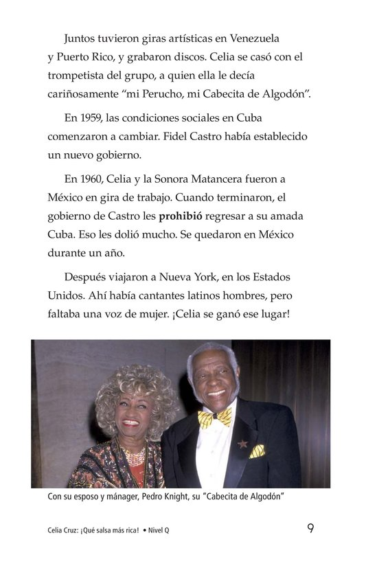 Book Preview For Celia Cruz, ¡Qué salsa más rica! Page 9