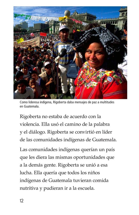Book Preview For Rigoberta Menchú, La lideresa quiché Page 12