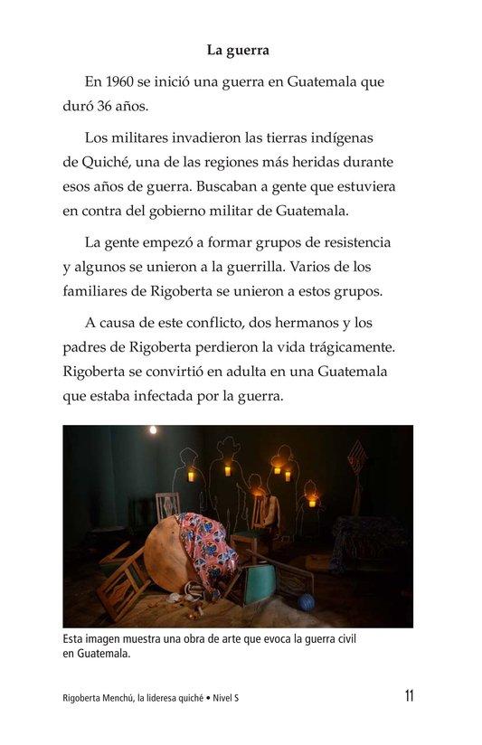 Book Preview For Rigoberta Menchú, La lideresa quiché Page 11