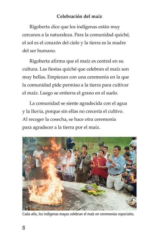 Book Preview For Rigoberta Menchú, La lideresa quiché Page 8