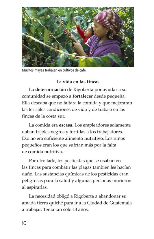 Book Preview For Rigoberta Menchú, La lideresa quiché Page 10