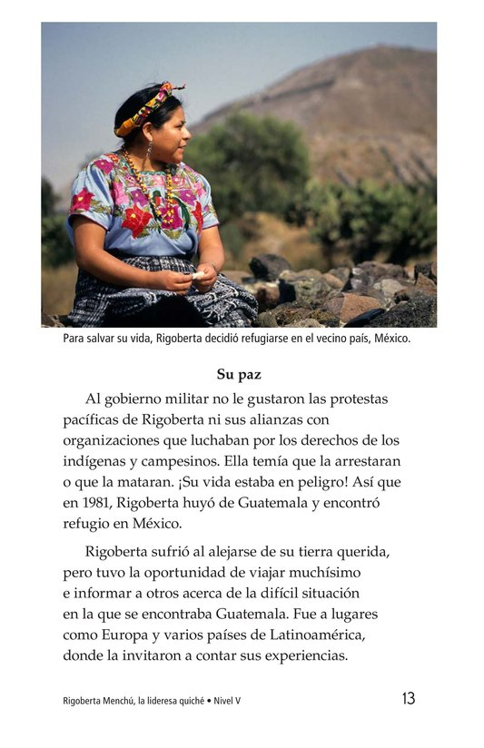 Book Preview For Rigoberta Menchú, La lideresa quiché Page 13