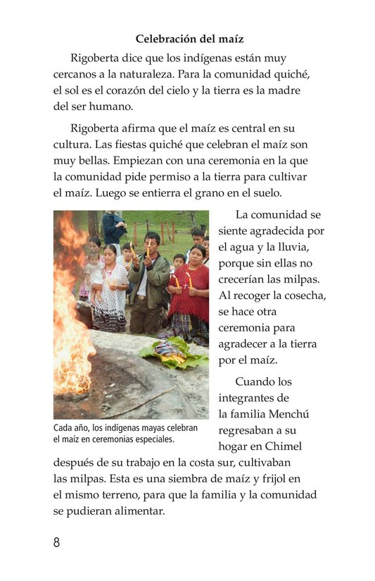 Book Preview For Rigoberta Menchú, La lideresa quiché Page 8