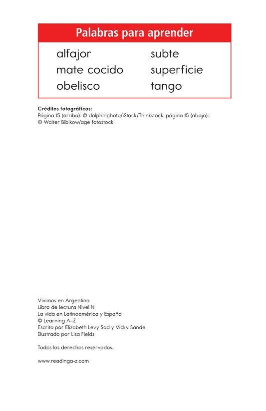 Book Preview For Vivimos en Argentina Page 2