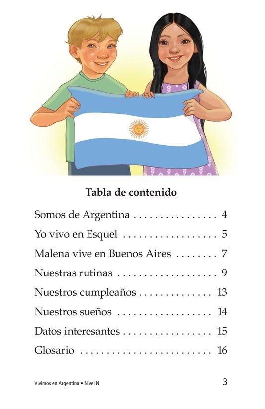 Book Preview For Vivimos en Argentina Page 3