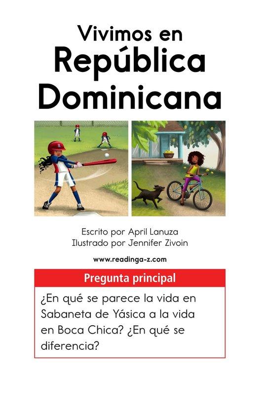 Book Preview For Vivimos en República Dominicana Page 1